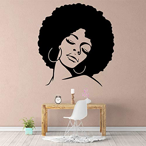 Tianpengyuanshuai Afrikanische Mädchen Wandaufkleber Selbstklebende Kunst Tapete Wohnzimmer Dekoration Wandtattoo 30X32cm