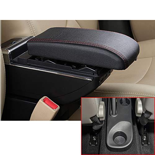 Für Kaptur Captur QM3 14-17 High-end Auto Armlehne Mittelarmlehne mittelkonsole Zubehör Ladefunktion Mit 7 USB-Ports Eingebaute LED-Licht Schwarz