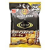 おやつカンパニー ライザップ×BODY STAR プロテインスナック (ステーキ味) 49g×48袋入 (12×4)