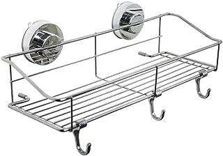 浴室用ラック キッチンツールフック 強力 吸盤フック キッチン お風呂 シャワーラック 防水 収納 棚 バス用 (L:350MM*145MM)