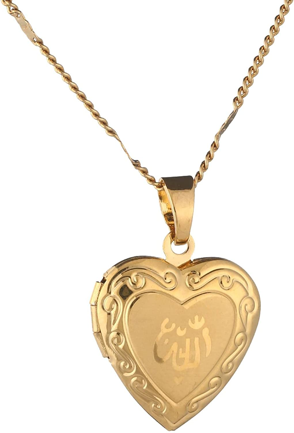 Naswi Heart Locket Pendant Purchase Necklace Jewelry Rom Gold Women High order Color