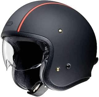 Shoei J O Vintage Open Face Helmet Carburetor TC-8 Matte Black/Grey/Red X-Large (More Size and Color Options)
