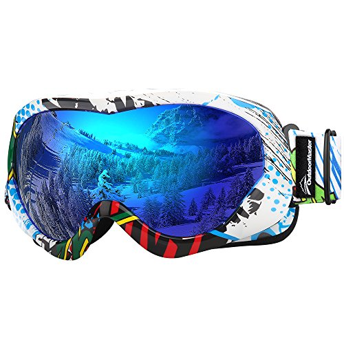 OutdoorMaster Kids Ski Goggles - Helmet Compatible Snow Goggles for...