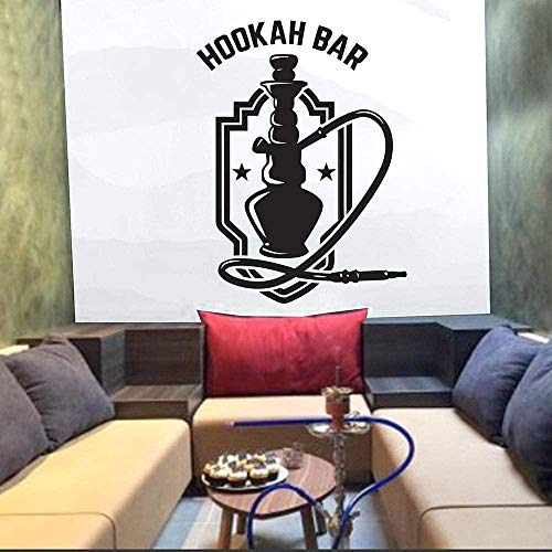 Wandaufkleber Home Decor Wallpaper Shisha Bar Kunst Shisha Club Rauchentspannung Wallpaper Pattern 63X42Cm