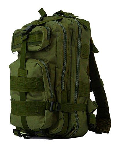 Minetom 35L Mochilas Impermeable Multifunción Bolsa Plegable Trekking Viajes Al Aire Libre Viaje Morral Deporte Sport Ejercito Verde One Size(25*25*44 Cm)