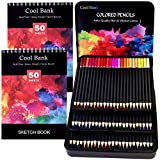72 Professional Colored Pencils, Artist Pencils Set with 2 x 50 Page Drawing Pad(A4), Premium Artist Soft Series Lead with Vibrant Colors for Sketching, Shading & Coloring in Tin Box