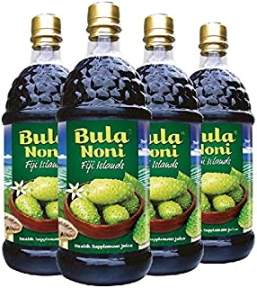 Bula Noni®- Rich in Antioxidant, High Potency (Case of 4 x 33.8 Fl.Oz/ea) Certified Organic Farm Direct Value Pack.