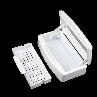Outils à ongles Plateau stérilisateur, propre plastique stérilisateur Boîte de rangement Organisateur pour ongles, stérili...