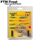 FTM Drop Shot Kit II - 8 Gummifische + 8 Haken + 4 Bleie zum Spinnfischen auf Barsche, Dropshot...