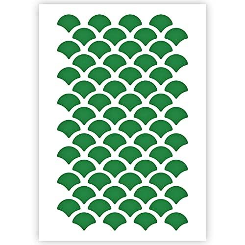 QBIX Schuppen Schablone - Fischschuppen Schablone - Muster Schablone - A5 Größe - Wiederverwendbare Kinder fre&lich DIY Schablone für Malerei, Backen, Handwerk, Wand, Möbel