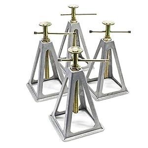 WilTec Bastidores de Aluminio para caravanas y remolques Bastidores de 4 Piezas