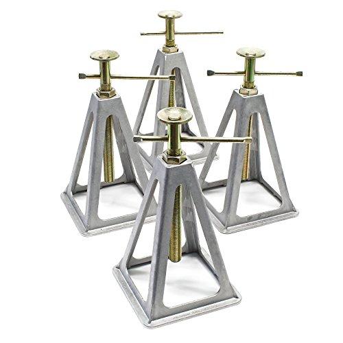 Quattro cavalletti in alluminio per roulotte e rimorchi Cavalletto