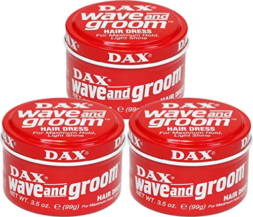 Dax Wave and Groom Hair Dress, 3.5 Ounce (Pack of 3) by DAX