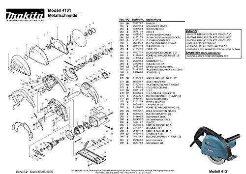 Makita 231823-7-3077 - Molla di tensione 4, ricambio originale 4131