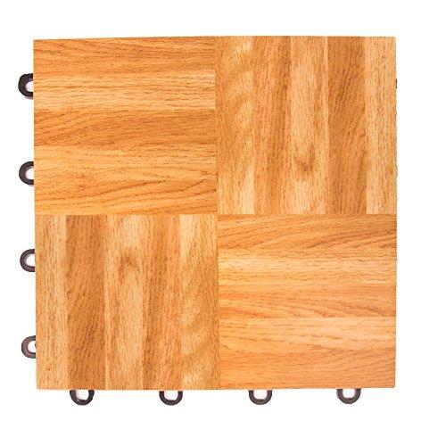 IncStores Oak 12' x 12' Practice Dance Tiles (52-12'x12' Tiles)