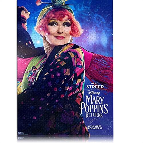 1000 pezzi di puzzle classico per adulti Il ritorno di Mary Poppins Puzzle per bambini 38x26 cm gioco di puzzle educativo Collezione d'arte fai-da-te in cima