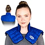MyCare Heating Pad   Microwavable Large Neck and Shoulder Wrap for Instant Pain Relief - Weighted for Deep Moist Heat Pack for Stiffness, Arthritis, Bursitis, and Relaxation - Safe Natural Home Remedy