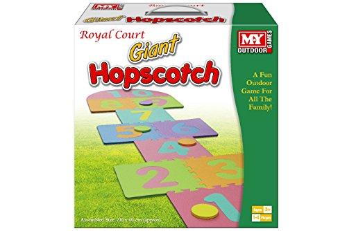 KT Giant Hop Scotch Outdoor Extérieur Jardin Fun Family Hopscotch Jeu Set Mousse Tapis