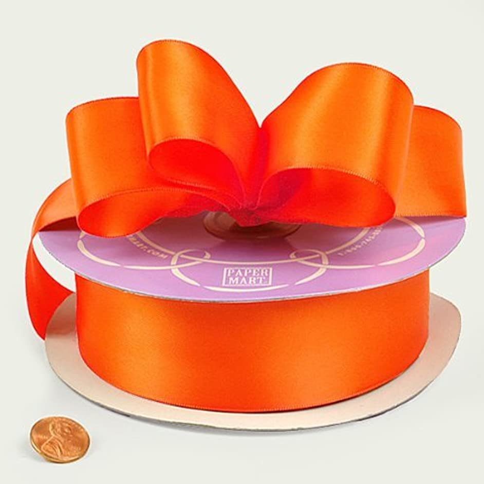 Torrid Orange Double Face Satin Ribbon, 1-1/2
