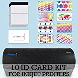 10 ID Card Kit - Laminator, Inkjet Teslin, Butterfly Pouches, and Holograms - Make PVC Like ID Cards