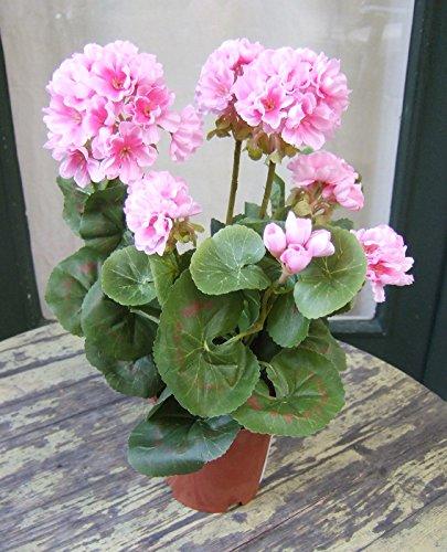 Künstliche Geranien bayrisch rosa - 2 Stück sehr schön , naturgetreu Top-Qualität