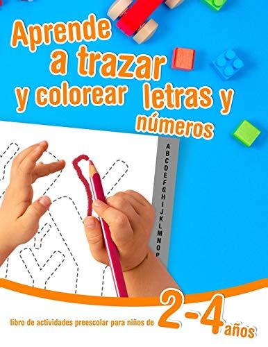 Aprende a trazar y colorear letras y números - libro de actividades...
