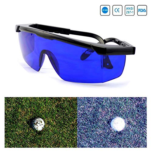 Feisou Golf Ball Finder Professional Lenses Glasses with Mould Case Eyeglass Cords Lens Less Straining Sunglasses Goggles