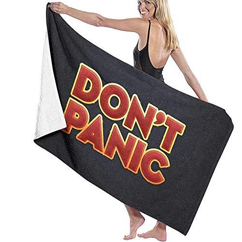 Bath Towel,Don T Panic Bath Towel Wrap Microfiber Soft Bath Sheets Beach Towel for Men/Women,80x130cm
