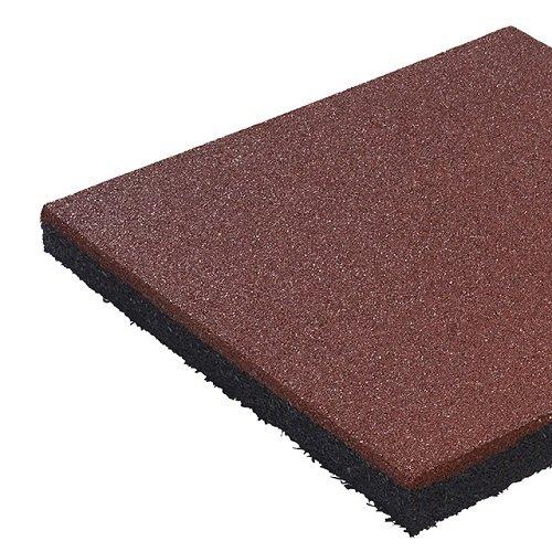Gartenwelt Riegelsberger Fallschutzmatte 50 x 50 x 4,5 cm ROT Fallschutzplatte Bodenschutzmatte Gummimatte