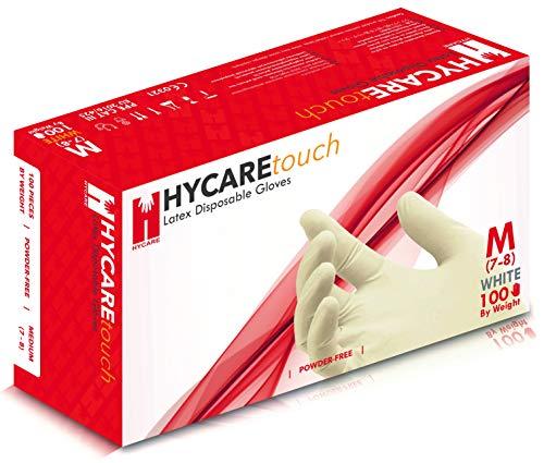 guanti lattice Hycare Guanti Monouso senza Polvere di Lattice