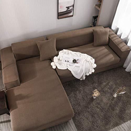 Zairmb Elástica Felpa Corta Funda de sofá Suave Espesar Antideslizante Funda de sillón Protector de Sofá Antiarrugas Resistente al Desgaste No es fácil desvanecerse-Dreisitzer 190~230cm GRAMO