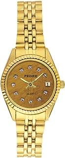 Fifth Avenue Faux Tiger Eye Dial Gold-Tone Bracelet Women's Watch
