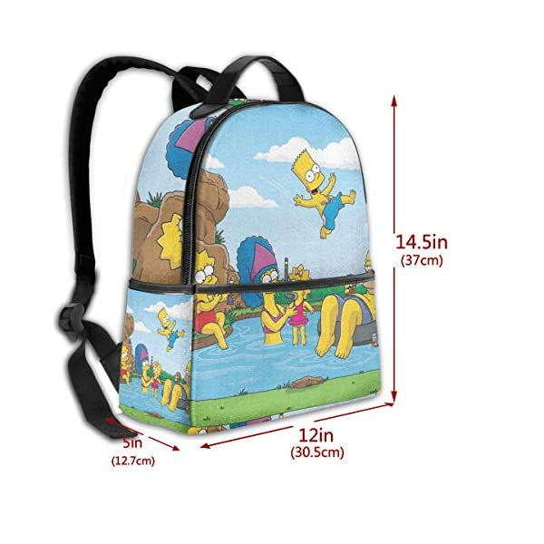 51L5MYGENuL. SS600  - Cartoon The Simpsons - Mochila para Estudiantes, Unisex, diseño de Dibujos Animados, 14,5 x 30,5 x 12,7 cm