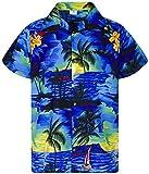 Funky Camicia Hawaiana, Surf New, Blu, M