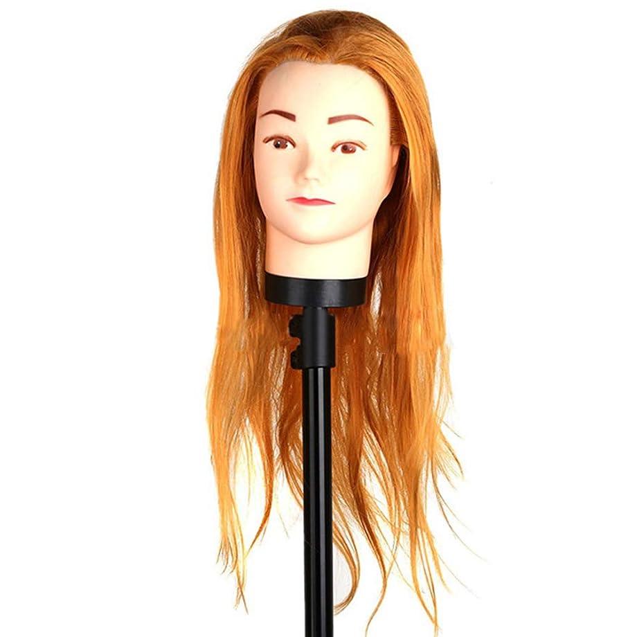 余分な賠償連邦高温繊維かつらヘッドモールドメイクヘアスタイリングヘッドヘアーサロントレーニング学習ヘアカットデュアルユースダミー人間の頭