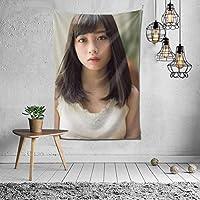 橋本環奈 タペストリー 壁掛け ポスター 背景布 壁飾り 家 リビングルーム ベッドルーム 部屋 おしゃれ 150*230cm