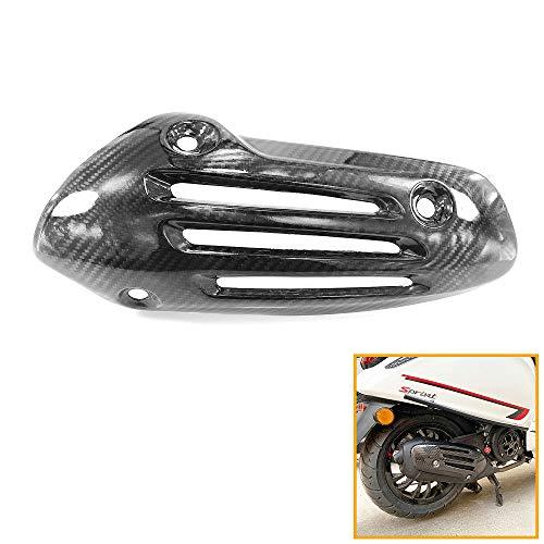 QIDIAN, cubierta de silenciador de tubo de escape de fibra de carbono para motocicleta, escudo protector térmico de aislamiento para Vespa Sprint Primavera LXV 125 150 ABS 2013-2020