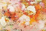 Wash&Dry Loving Rose Felpudo, acrílico, Naranja, 140 x 200 x 0.9 cm