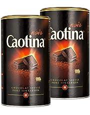Caotina noir, Cacaopoeder met donkere Zwitserse Chocolade, Warme Chocolademelk, 2 Pakken, 2 x 500g