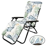 Your's Bath Sun Lounger Cushion, Thick Pad Large Padded Only Replacement Bench Cushions Portable with Non-slip Cover for Holiday Relaxer Patio Garden Outdoor (1 pcs, Hawaiian Style)
