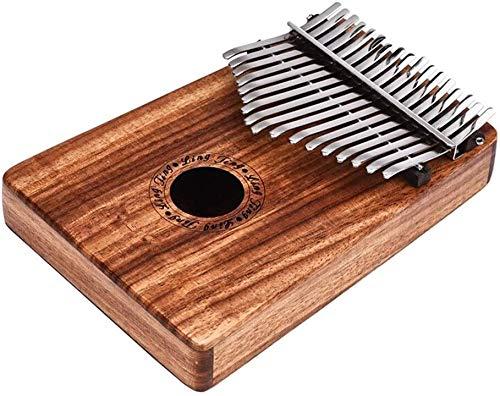 ZYF Daumenklavier Kalimba Klavier tragbarer Kalimba Holz Trill Hand Klavier 17 Key Ton Thumb Piano c Tuning 8 Zubehör für Kinder Erwachsene Anfänger (Farbe: Holz, Größe: Eine Größe)