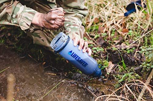 LifeSaverBottleアウトドア/緊急用携帯浄水器99.9999%細菌除去4000L1分2L英陸軍仕様日本語取説新ロゴ