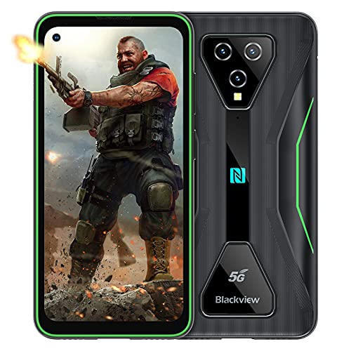 5G Móvil Resistente, Blackview BL5000 8GB+128GB Smartphones Libre 6.36' FHD+, 4980 mAh Carga Rápida, MediaTek Dimensity 700 Dual SIM Smartphone Resistente - Verde