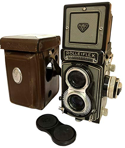 Antiques World Serial No. T 2140591 with Carl Zeiss Tessar Vintage Rolleiflex 3.5 T TLR Camera, Grey AWUSAAC 07