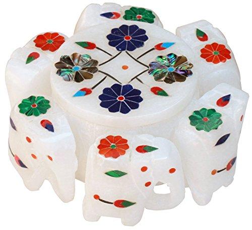 SouvNear Regalo portagioie scatole Porta per Gioielli Anello Custodia Orecchini Braccialetti collane - Stone Unico Elefante Art