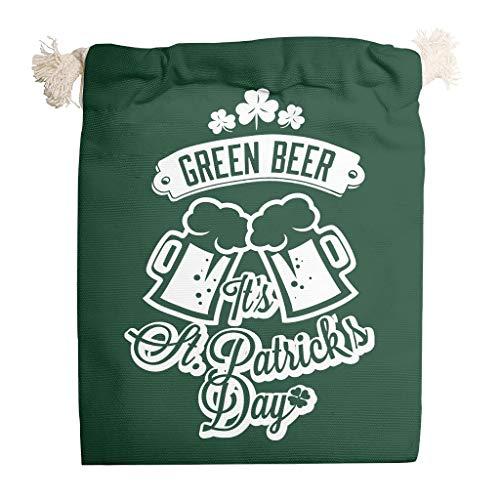 6 bolsas de lona para guardar el día de San Patricio, duraderas para regalos de Navidad, aniversario, bolsa de caramelos., White (Blanco) - Knowikonwn-STB