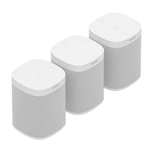 All-new Sonos One Three Room Set  - The Smart Speaker for Music Lovers with Amazon Alexa built for Wireless Music Streaming and Voice Control in a Compact Size with Incredible Sound for Any Room. (White)