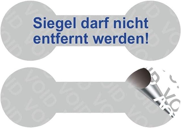 Blau - 100 St/ück auf Rolle VOID SicherheitsetikettenSiegel darf nicht entfernt werden 60 x 20 mm