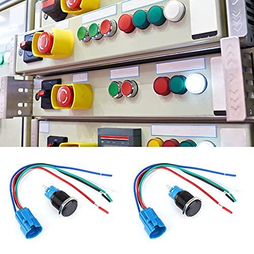 Interruptor de botón de empuje electrónico, 12VDC con instrumento de control de acero inoxidable Modificación de la motocicleta