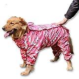 ZoonPark - Abrigo Impermeable para Perro, con Capucha de 4 Patas, Impermeable, poliéster, con Capucha, para Camuflaje o Chubasquero de Camuflaje